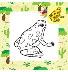 Frog coloring page vector
