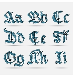 Set gothic abc vector