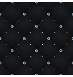 Seamless luxury dark black pattern and background vector