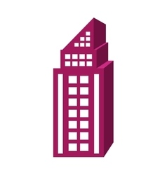Purple tall building graphic vector