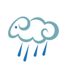 Stylized Sheep As A Cloud With Rain vector image