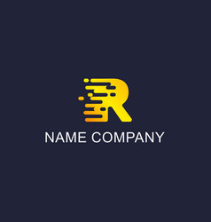 abstract business logo with the letter r vector image