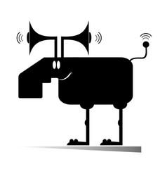 Cartoon elk or deer concept vector