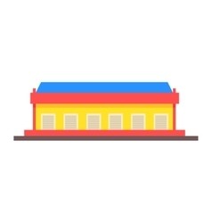 Dock storehouse building vector