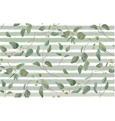 Eucalyptus different tree foliage seamless pattern vector