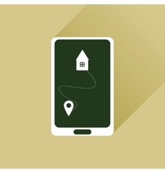 Flat web icon with long shadow mobile navigation vector