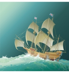 galleon mayflower vector image vector image