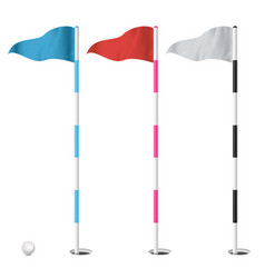 golf flags set isolated on vector image vector image