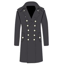 Grey trench coat vector