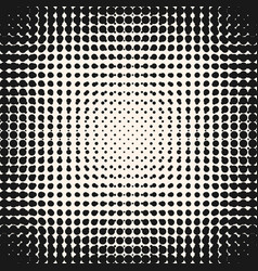halftone grunge circles pattern monochrome texture vector image vector image