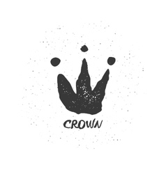 Hand drawn crown vector