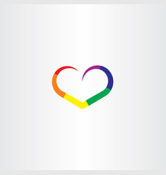 heart rainbow colorful logo icon vector image vector image