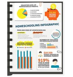 Homeschooling infographic vector image vector image