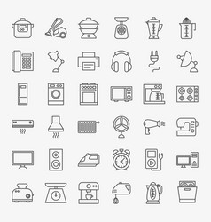 Household line icons vector