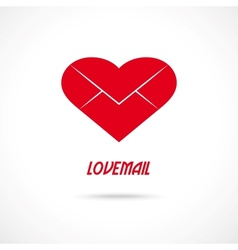 Love letter symbol Lovemail vector image vector image