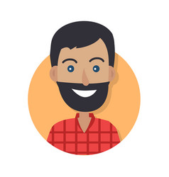 man face emotive icon in flat style vector image vector image