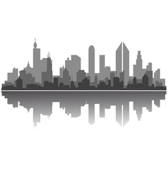 modern city skyline vector image vector image