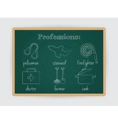 Occupation set job profession vector