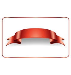 Red ribbon satin bow vector image vector image