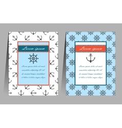 Sea theme cards vector