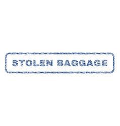 Stolen baggage textile stamp vector