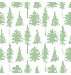 trees silhouette seamless patten ecology backdrop vector image