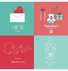 Valentines day logo design template graphic vector