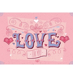 Valentines day red card vector