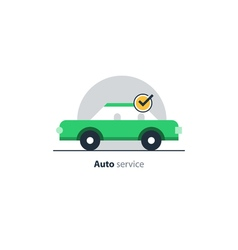 Auto car insurance concept diagnostic servises vector