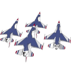 Set of jets vector image