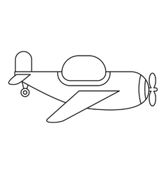 Childrens toy plane icon outline style vector image