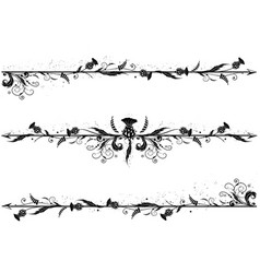 set of dividers with thistle vector image