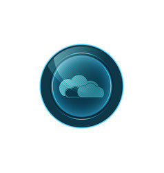 Web button cloud on white background design vector