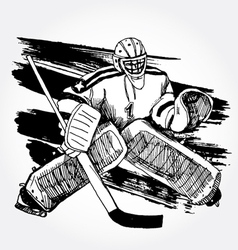 Hockey player2 vector