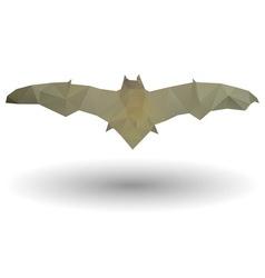 Triangle bat icon vector image
