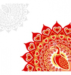 peacock love card vector image
