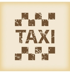 Grungy taxi icon vector
