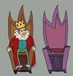 King on throne story symbol vector