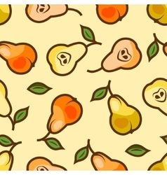 Pear seamless pattern vector