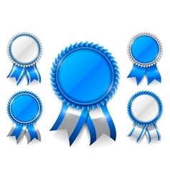 Blue award medals vector