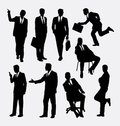 Businessman concept silhouettes vector