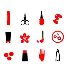 manicure cosmetics vector image
