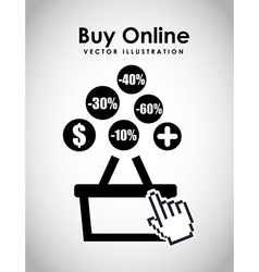 Buy online design vector
