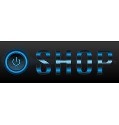Shop header or button vector image