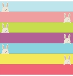 Easter banners with rabbit colorful banners with vector