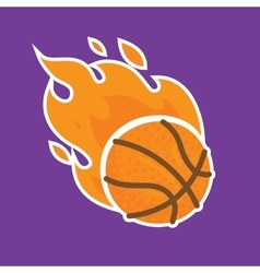 Basketball team icon template isolated vector