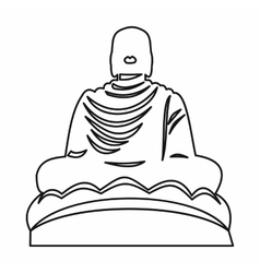 Buddha statue icon outline style vector
