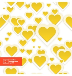 Abstract Paper Hearts Seamless Pattern vector image vector image