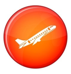 Aircraft icon flat style vector