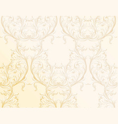 baroque golden pattern background ornament decor vector image